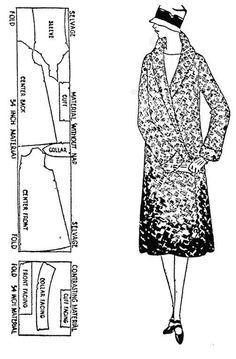 Free 1920s sewing pattern Fancy Flapper Coat