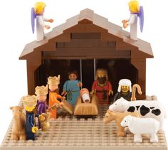 """Kids build their own nativity scene w/ this 62 pc Nativity Building Block Set! Fully compatible with Lego, this set includes 50 building blocks, nine figures & four animals. From Trinity Toyz... $29.99 at Family Christian bookstore. I used a 30% off coupon they'd emailed me and it was a great deal! 12/19/12"