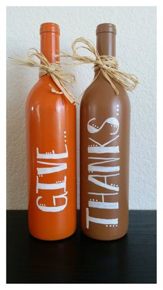 Hey, I found this really awesome Etsy listing at https://www.etsy.com/listing/203642405/hand-painted-give-thanks-bottles