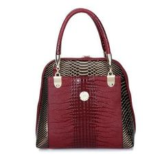 Handbag Patent Leather Crocodile