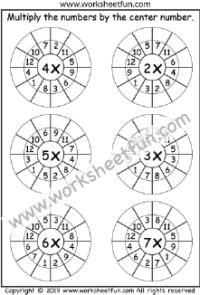 Times Table Worksheets – 19 and 20 – Fifty Worksheets / FREE Printable Worksheets – Worksheetfun Math Multiplication Worksheets, Mental Maths Worksheets, First Grade Worksheets, Preschool Worksheets, Times Tables Worksheets, Free Printable Worksheets, Kids Learning Activities, Math For Kids, Math Centers