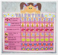 EVA CHARMOSA: QUADRO DE INCENTIVO New Job, Kids And Parenting, Psychology, Periodic Table, Homeschool, Maternity, Valentino, Education, Toys