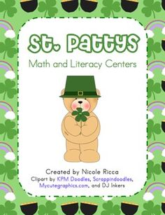 This FREE packet includes lots of fun hands-on center activities for math and literacy. Includes 10 math center activities and 11 literacy activiti...