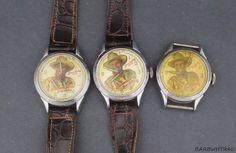 1948 Gene Autry Western Cowboy Character Watch Lot of 3 #Novelty #CartoonIdol