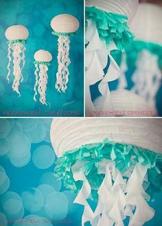 Adohrable creations - Handmade jelly fish made with paper lanterns