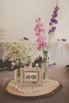 vintage rock and roll wedding centerpieces, I am sooooo doing this at our wedding reception!!!