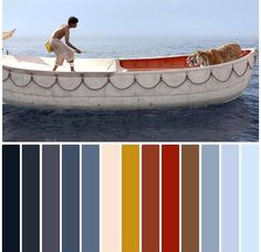 Morandi color style from the movie Life of Pi, Pi and tiger for your wallpaper. Movie Color Palette, Colour Pallete, Color Combinations, Color Schemes, Color Palettes, Cinema Colours, Mood Board Interior, Life Of Pi, Construction