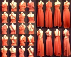Multi Dress in Red with Different Syles