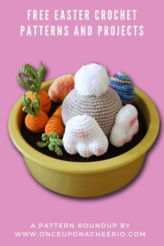 Looking for FREE crochet patterns for Easter? Spring into the season with some crochet Easter eggs, crochet Easter egg cozy, amigurumi bunnies, DIY crochet bunny ears and DIY crochet Easter baskets. Free crochet patterns for beginners that are great for Easter. Diy Crochet Easter Basket, Easter Crochet Patterns, Crochet Bunny, Crochet Patterns For Beginners, Easter Baskets, Free Crochet, Easter Bunny Ears, Easter Eggs, Bunnies