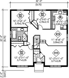 1000 images about floorplans on pinterest house plans for 32x32 house plans