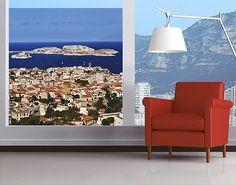 #Fensterfolie - #Sichtschutz Fenster Marseille - Fensterbilder #mediterran #warme #Farben #Mittelmeer #terracotta #orange #südländisch #Urlaub #mediterranean #Flair