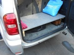 plywood secret compartment for storing things you don't want people to know you keep in your car.or just MORE STORAGE! Home Health Nurse, Get Home Bag, Car Hacks, Car Storage, Diy Camping, Car Travel, Car Cleaning, Car Accessories, Deco