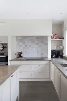 betonlook,keramische tegel, keuken, gietvloer, beton, onderhoud, modern, binnen en buiten