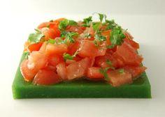 Molecular gastronomy salad.