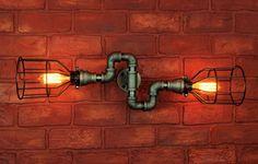 Industrial Lighting w / Cages S plier Wall Art par HanorManor