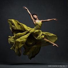 Jacqueline Green, Alvin Ailey American Dance Theater. Dress by J. Mendel - Photo by NYC Dance Project