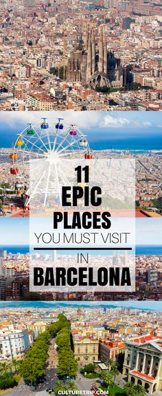 11 epic places you must visit in Barcelona. Read on to discover some of the coolest hidden gems in Barcelona, from speak-easy bars to secret out-door hang outs. European Vacation, European Travel, Travel Europe, Cruise Europe, Time Travel, Places To Travel, Travel Destinations, Places To Visit, Barcelona Travel