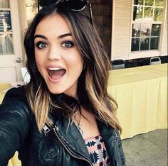 Lucy hale - Her hair is super thick. Pretty Little Liars, My Hairstyle, Pretty Hairstyles, Hair Day, New Hair, Hair Inspo, Hair Inspiration, Corte Y Color, Hair Color And Cut
