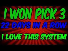 Pick 3 Lottery System ( Great) 2018 HOW I WON OVER 10 THOUSAND DOLLARS PLAYING PICK 3 LOTTERY - YouTube Lucky Numbers For Lottery, Winning Lottery Numbers, Lotto Numbers, Lottery Winner, Winning The Lottery, Lotto Winners, Pick 3 Lottery, Play Lottery, Lottery Games