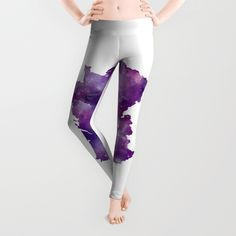 France Leggings by artsaren Athleisure Trend, Leggings, Street Outfit, Celebrity Look, Sporty, France, Watercolor, Paris, Stylish