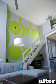 Color Therapy: Tim's Stairwell Feature Wall