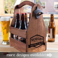 Etsy Gift For Men, Beer Caddy, Beer Lover Gift, Beer Crate, Wooden Gift, Housewarming Gift, Beer Bottle C