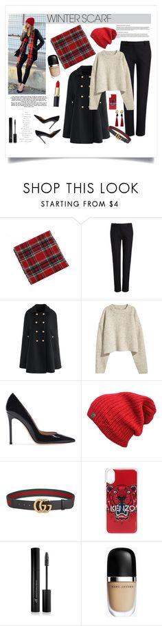 """""""Senza titolo #7074"""" by waikiki24 ❤ liked on Polyvore featuring Joseph, Chicwish, H&M, Gucci, Kenzo, Forever 21, Marc Jacobs, MANGO and winterscarf"""
