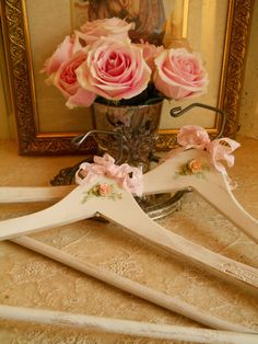 Vintage Wood Batts Clothes Hanger With by VintagePackratQueen, $15.50