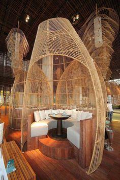restaurant design W Retreat amp; Spa Restaurant Interior Design in Bali: Café Design, Design Room, Deco Design, Design Ideas, Design Projects, Design Trends, Vintage Industrial Furniture, Industrial House, Industrial Interiors