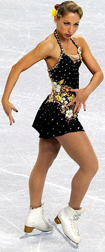 Amelie LaCoste, Black Figure Skating / Ice Skating dress inspiration for Sk8 Gr8 Designs.