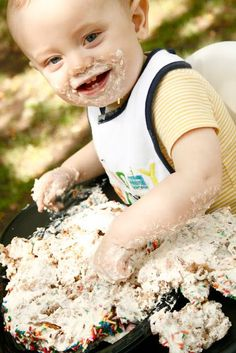 Super Easy and Healthy Smash Cake for Babies | MIRI IN THE VILLAGE