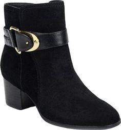 4adc79a52bc Sofft Nadra Bootie in Black Alaska Suede