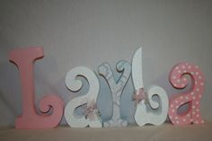 BABY NAME ALPHABET WOODEN WALL ALPHABET IDEAS - Google Search