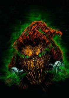 Hacker Logo, Jonathan Crane, Dark Knight, The Darkest, Lion Sculpture, Batman, Behance, Deviantart, Statue