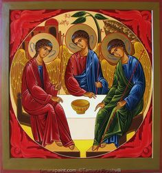 Orthodox Icon Of Trinity | Purchasing information* . Christian Orthodox handpainted icons made by ...