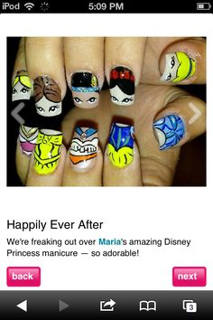 Disney nails...I need to get this down for my trip!