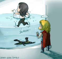 Loki didn't want magazines, he wanted a pool <-- I never wanted the throne! All I ever wanted was to swim in your pool!<<  THIS