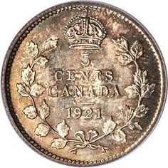 The Prince of Canadian Coins: The rare and valuable 1921 nickel. Canadian Penny, Canadian Coins, Canadian History, Thousand Dollar Bill, Valuable Coins, Valuable Pennies, Gold Sovereign, Coins Worth Money, Coin Auctions