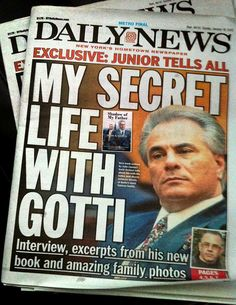 Michael Bell painting on cover of New York Daily News 1/18/15 #JohnGotti