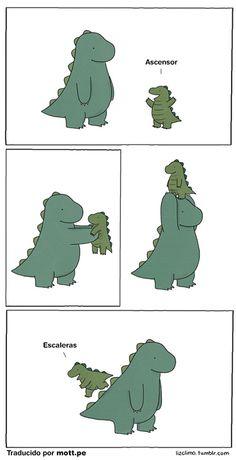 Pequeño dinosaurio *grito de emoción*