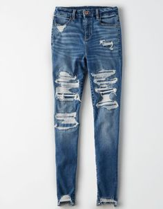 Shop Curvy High-Waisted Jeggings at American Eagle to find your new favorite fit. Designed for curves and made for you, curvy jeans feel as good as they look. Hot Outfits, Jean Outfits, Fashion Outfits, Fashion Tips, Fashion Trends, Cute Ripped Jeans, Skinny Jeans, Hollister Jeans, Women's Jeans