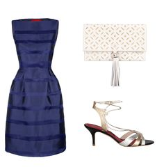 For the elegant bridesmaid - combine navy, white, and silver!