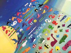 sea world sticker lovely Fishes whale crab sea seal polar bear