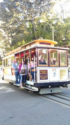 Riding the trolley cars in San Francisco