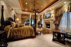 Luxury Fireplaces Luxury Homes Romantic Luxury Master Bedroom Luxury Master Bedroom With