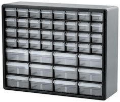 Akro-Mils Hardware and Craft Cabinet I use a similar cabinet, in my brewery, to store and organize small parts and pieces. Akro-Mils 10144 44 D by by Hardware and … Plastic Storage Cabinets, Garage Storage Cabinets, Plastic Drawers, Lego Storage, Tool Storage, Storage Drawers, Storage Ideas, Tool Cabinets, Garage Organization