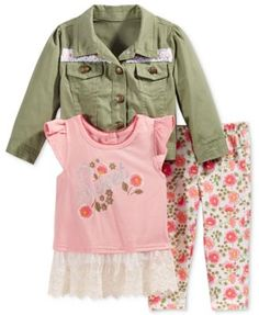 Girls clothes Baby outfits Girls creeper Pink Pants Night Owls 2 pc 0//3 mos