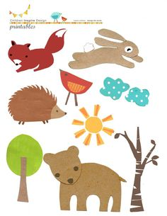 Free Woodland art freebies from http://www.childreninspiredesign.com/content/free-collage-art-kids-chance-win-200