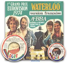 "The French version of Abba's single ""Waterloo"" was released during May 1974 - the English version had been released the previous month  #Abba #Agnetha #Frida #Vinyl http://abbafansblog.blogspot.com/2017/05/abba-vinyl_84.html"