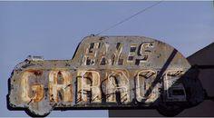 Hays Garage vintage neon sign